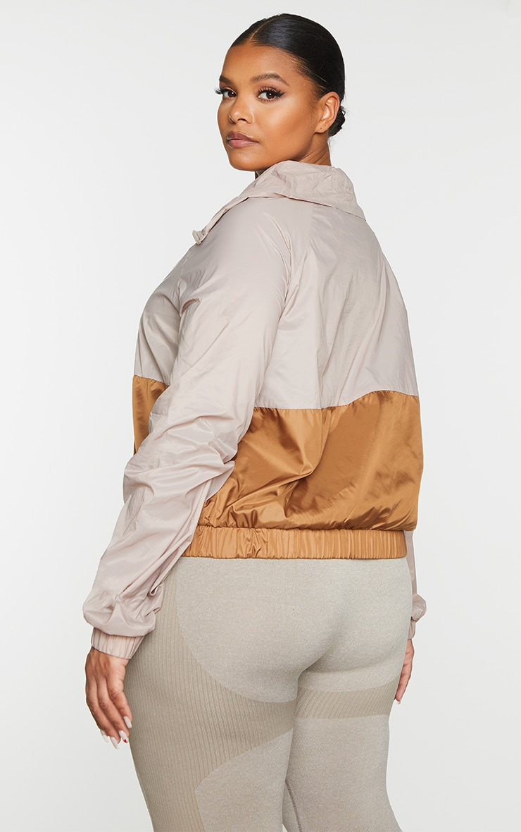 Plus Taupe Half Zip Windbreaker 2