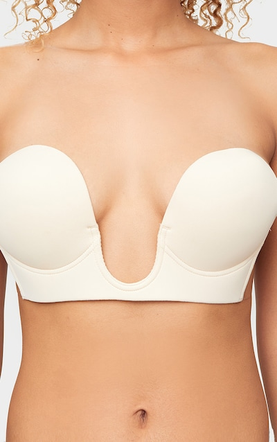 Nude Stick On Winged U Plunge Bra