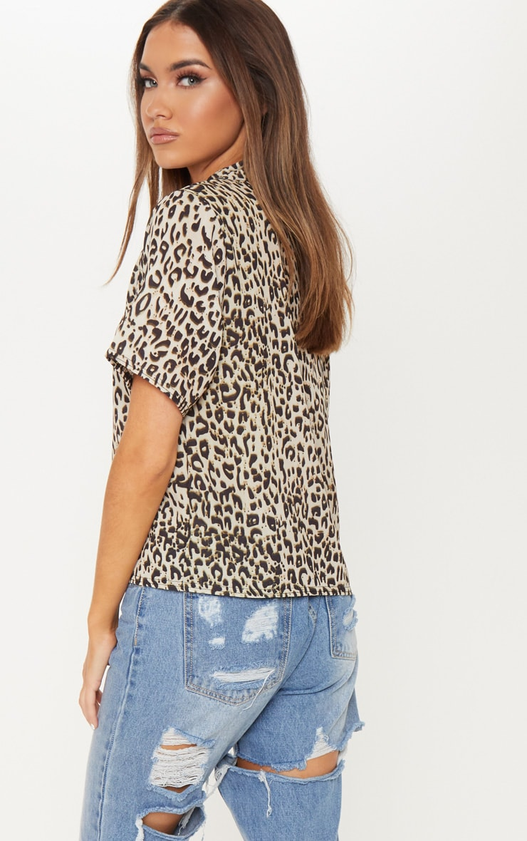 Black Leopard Print Shirt 2