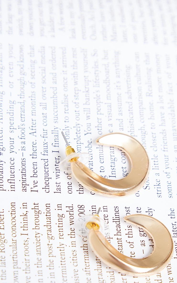 Gold Mini Chunky Twist Hoop Earrings 2