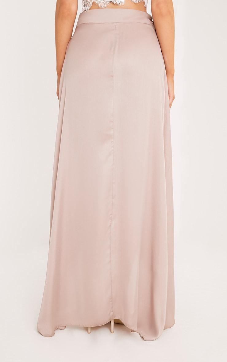 Sorella Mink Satin Wrap Maxi Skirt 4
