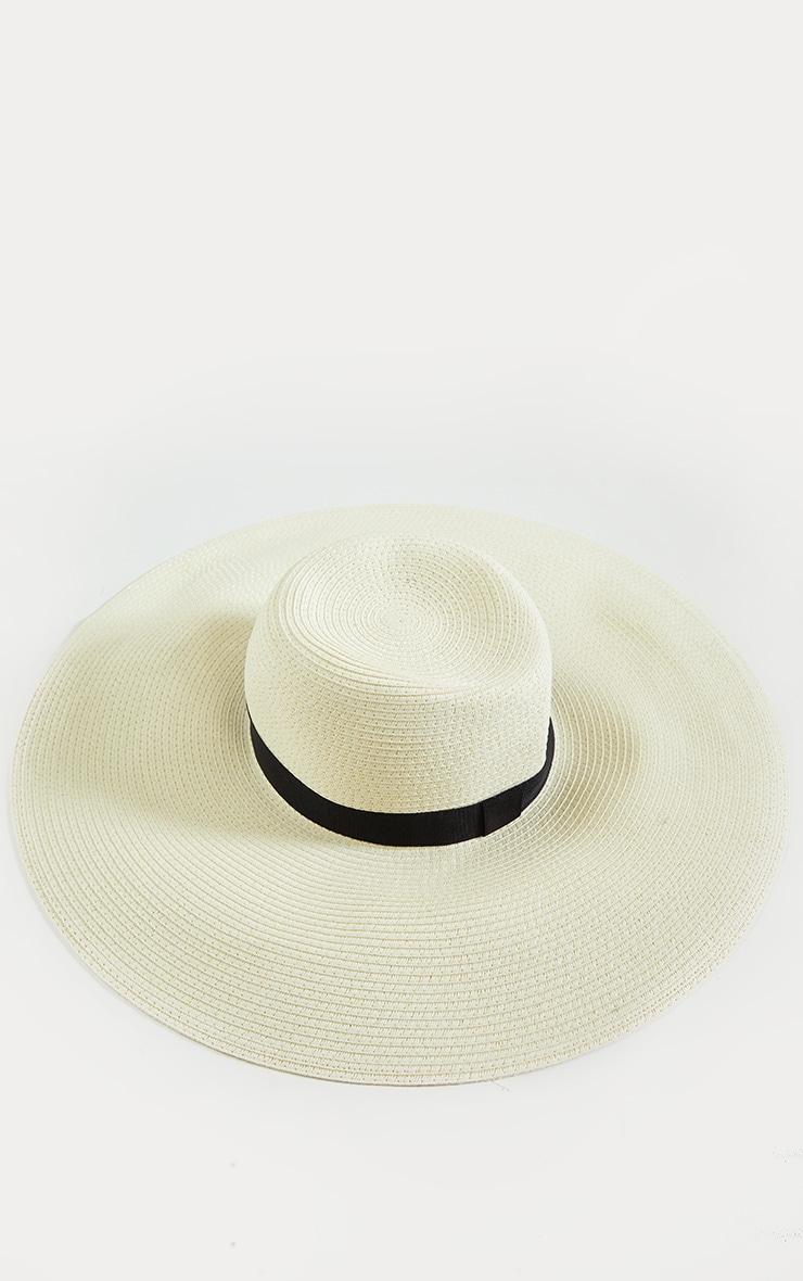 Cream Floppy Sun Hat 2