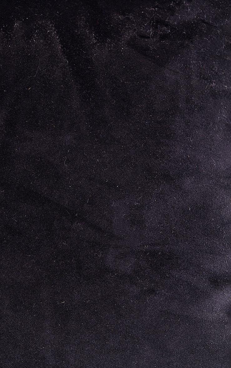 Black Large Velvet Filled Cushion 6