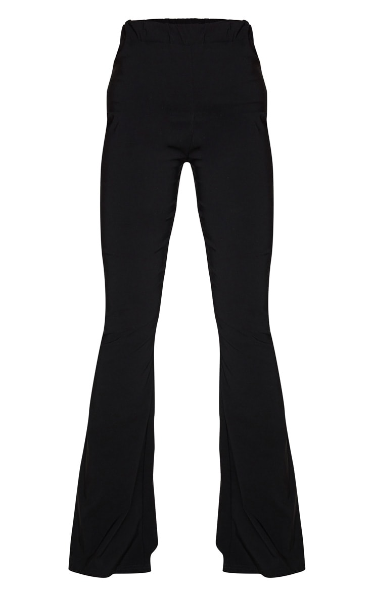 Tall Black Low Back Waist Wide Leg Flares 5