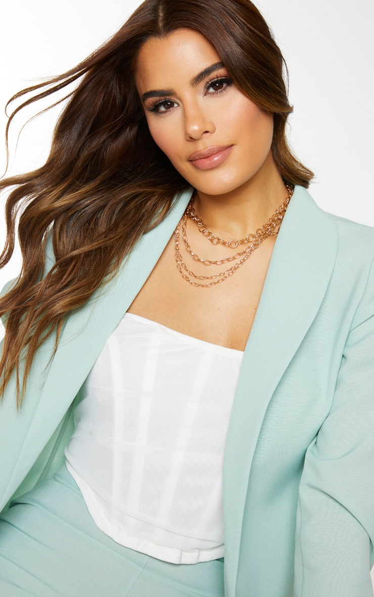 Tall Mint Oversized Longline Blazer 4