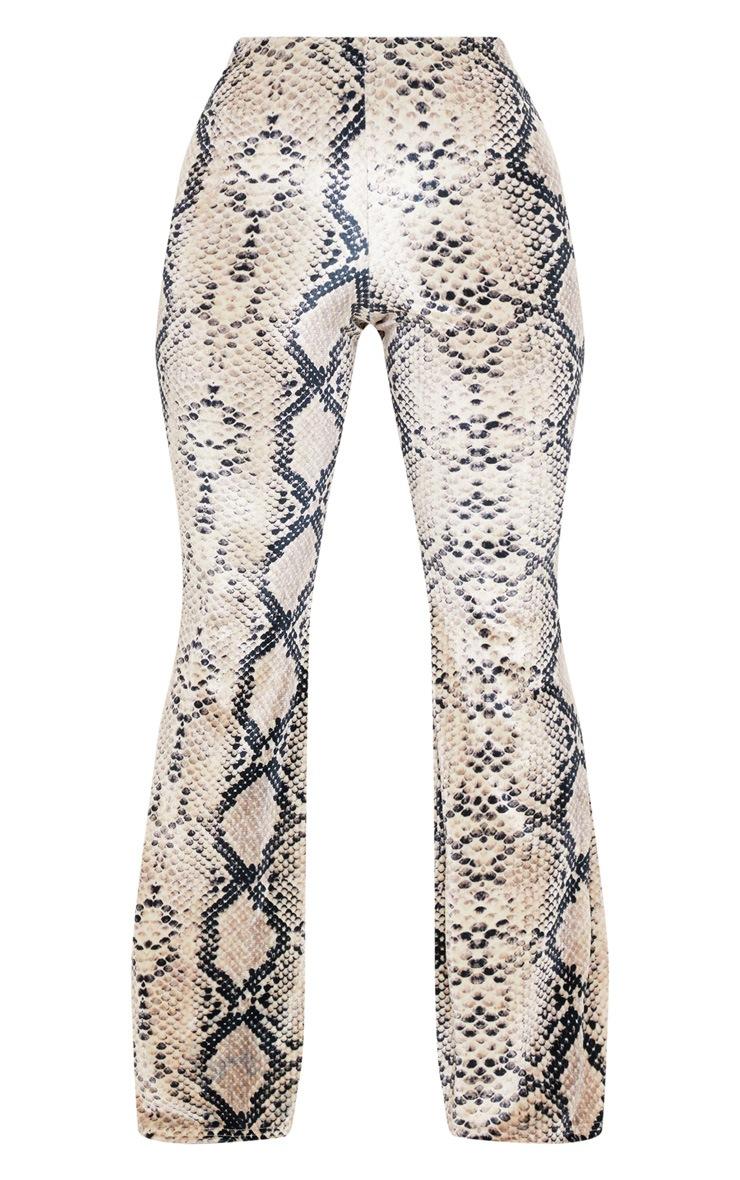 Snake Velvet Printed Flared Trouser 3