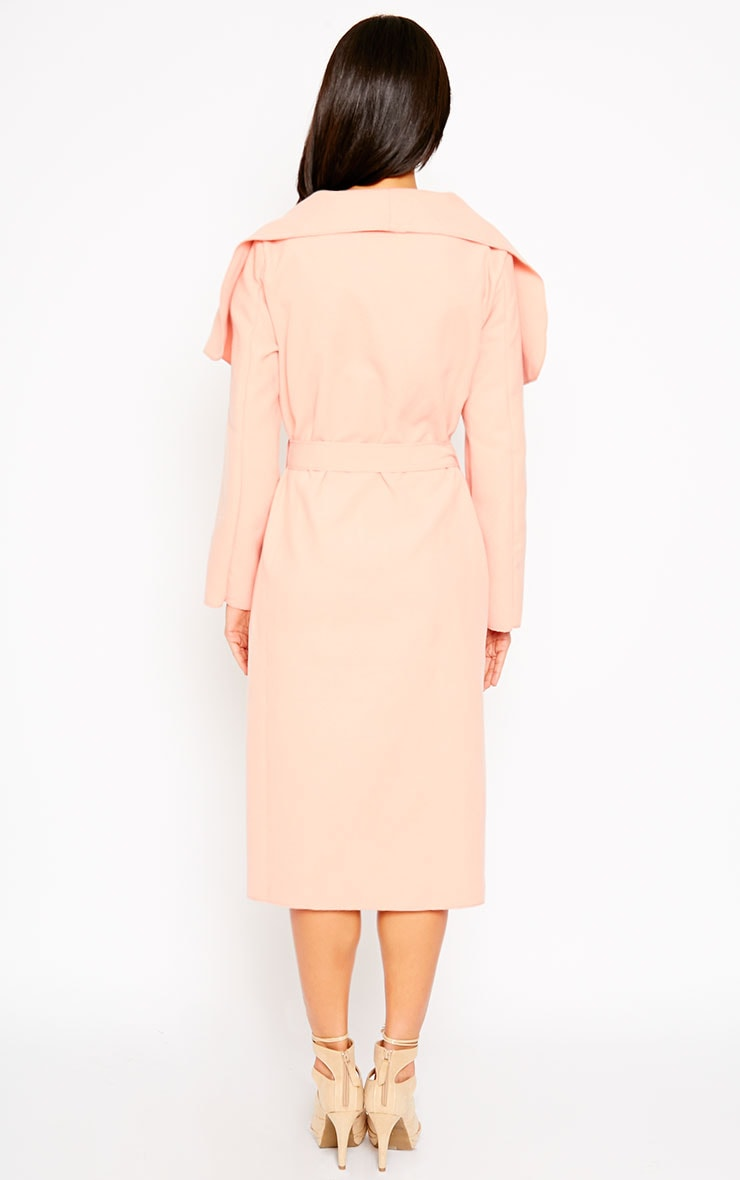 Veronica Peach Waterfall Coat 3