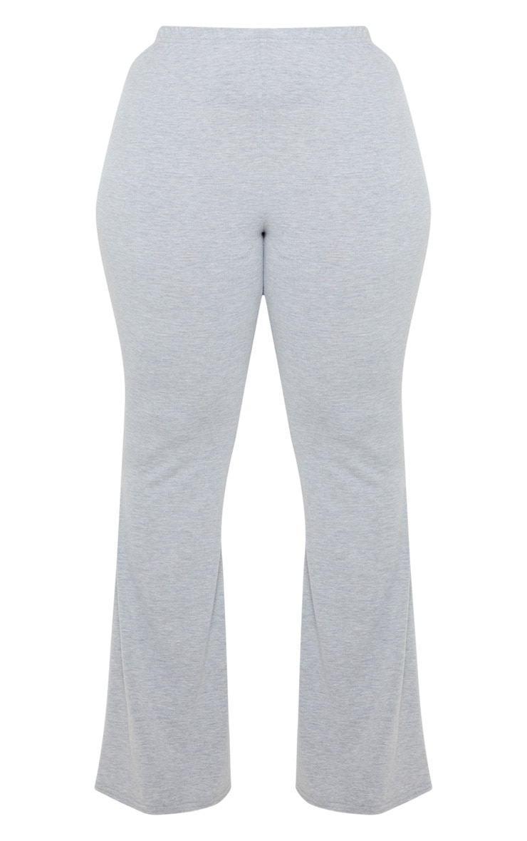 Plus Grey Basic Flared Pants 3