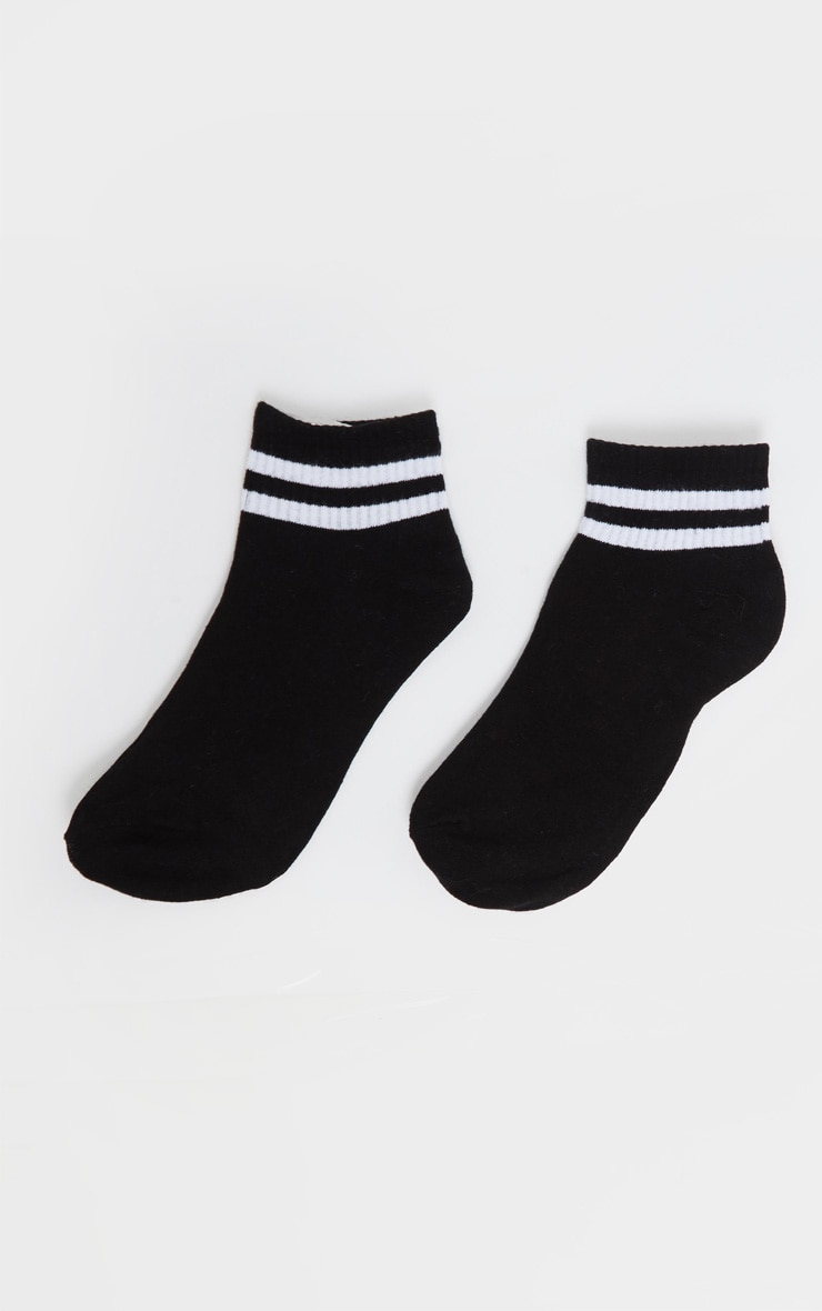Black And White Two Pack Ankle Socks 5