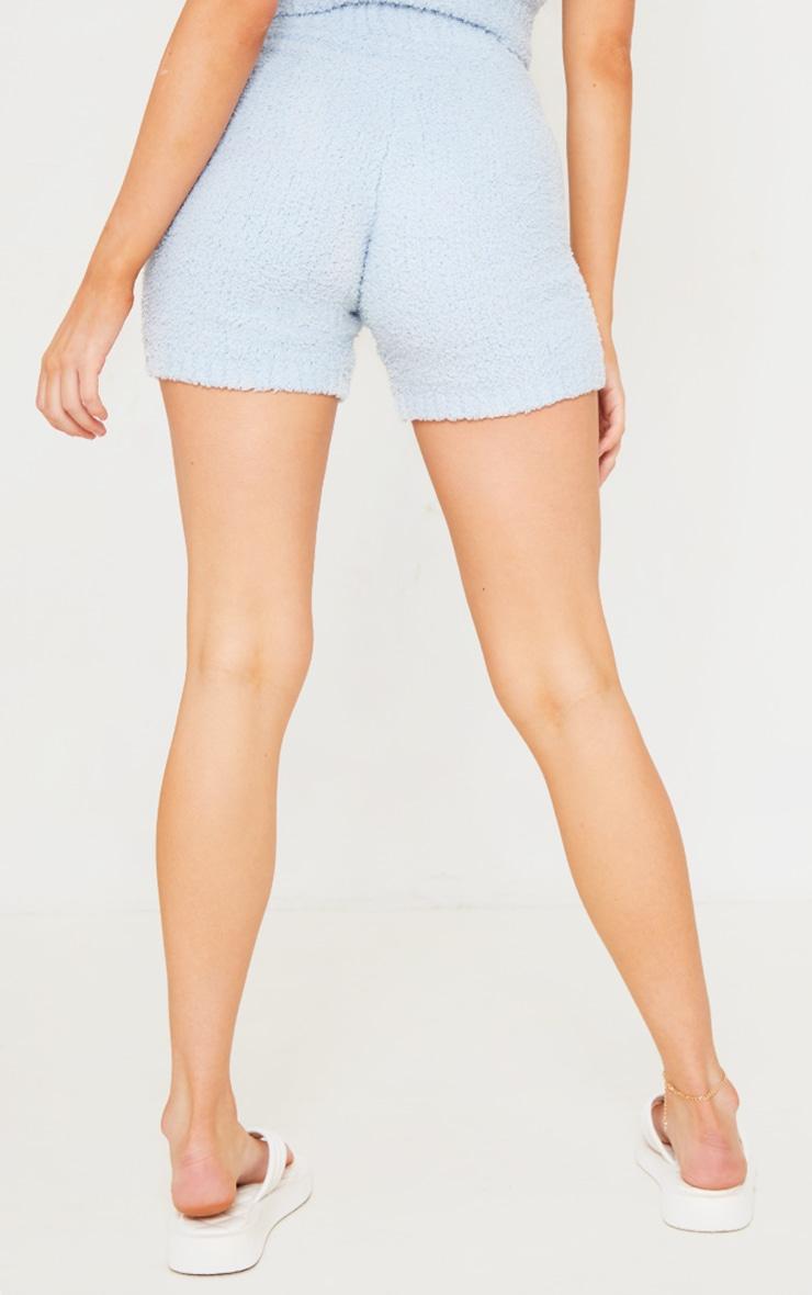 Short bleu ciel Premium  en maille tricot fluffy 3