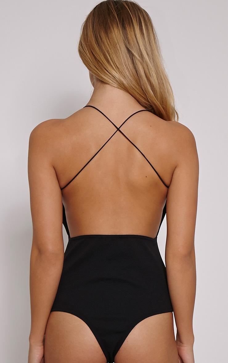 Raye Black Cross Back Bodysuit 5