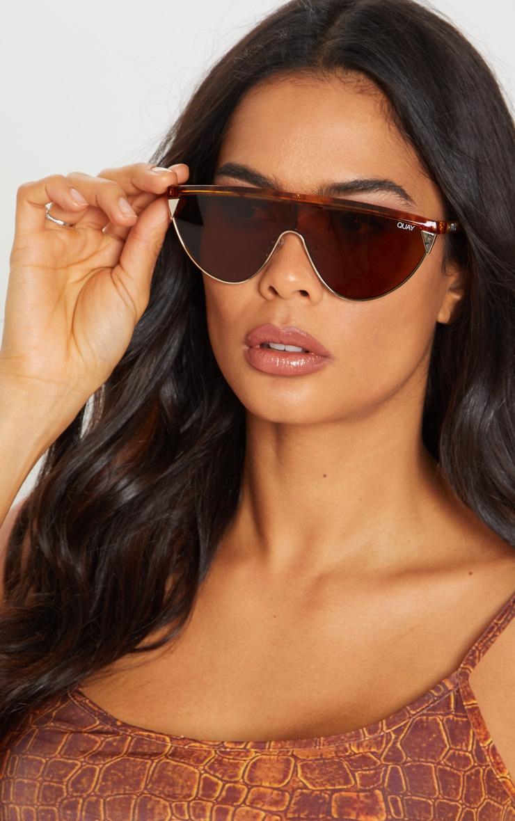 QUAY AUSTRALIA Tortoiseshell X Elle Ferguson Collaboration Goldie Sunglasses