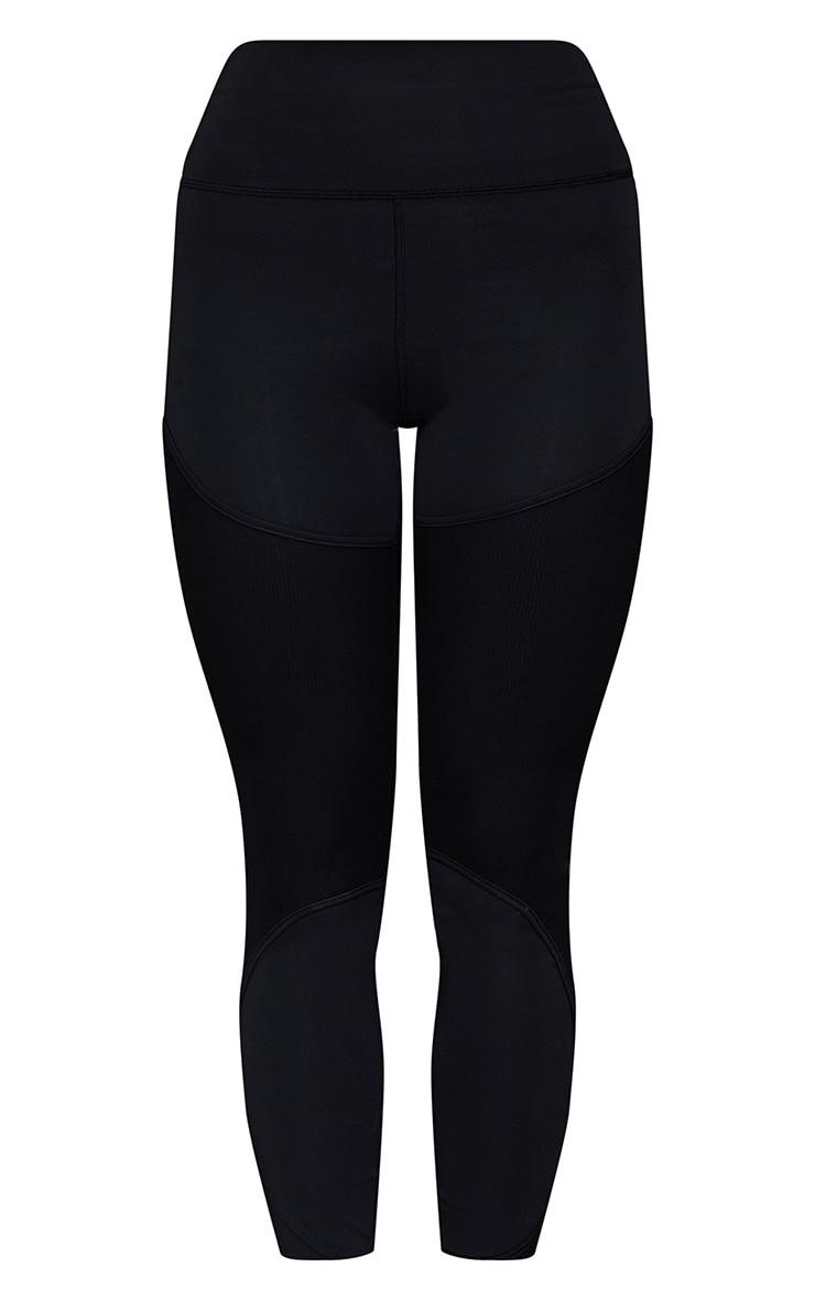 Black Premium Mesh Detail Sports Leggings 5