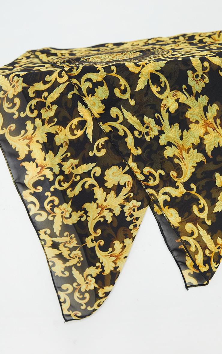Gold Chain Print Head Scarf 3