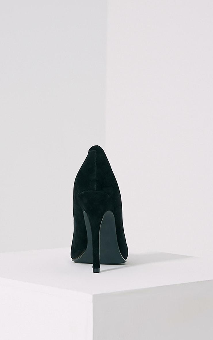 Magna Black Suede Court Shoes 5