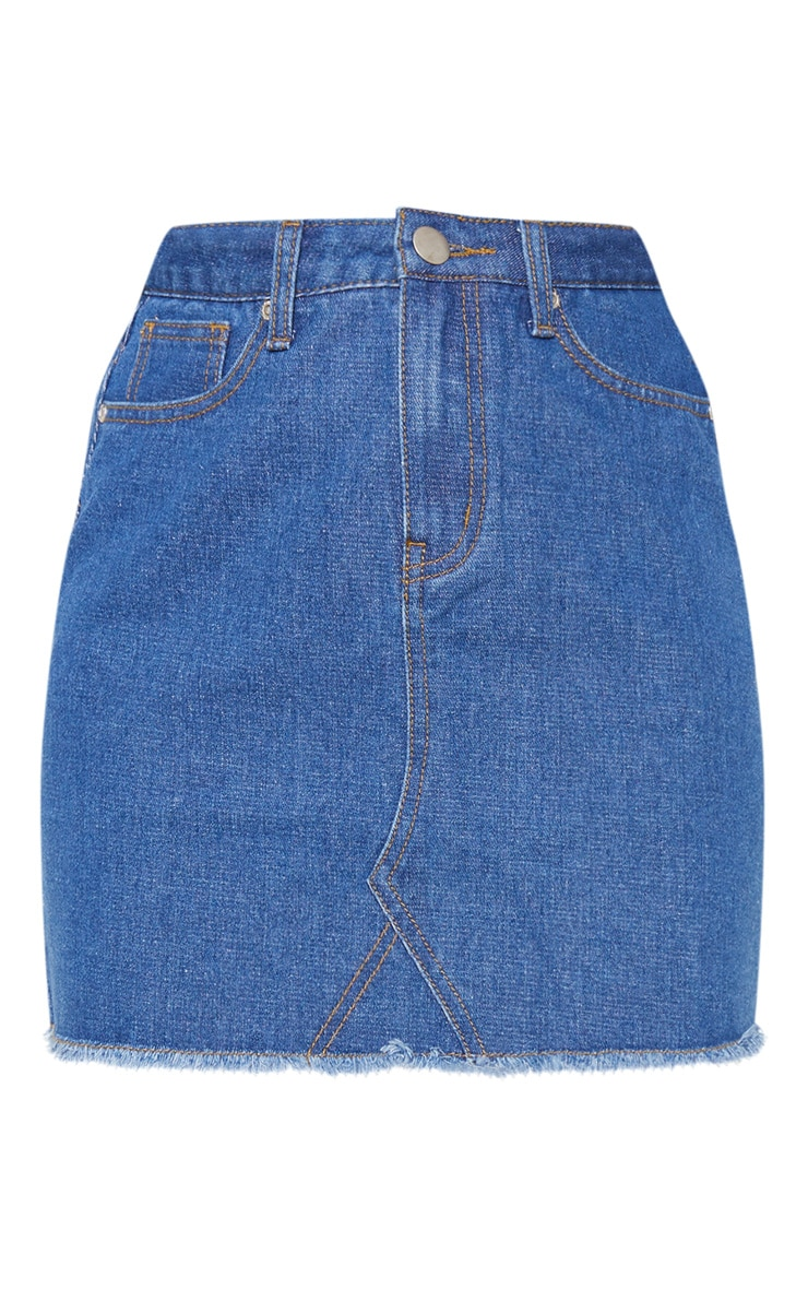 Basic Mid Wash Denim Skirt 3