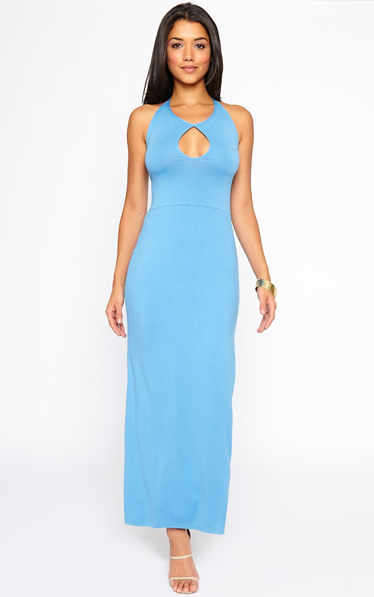 Kerry Blue Caged Back Maxi Dress 4