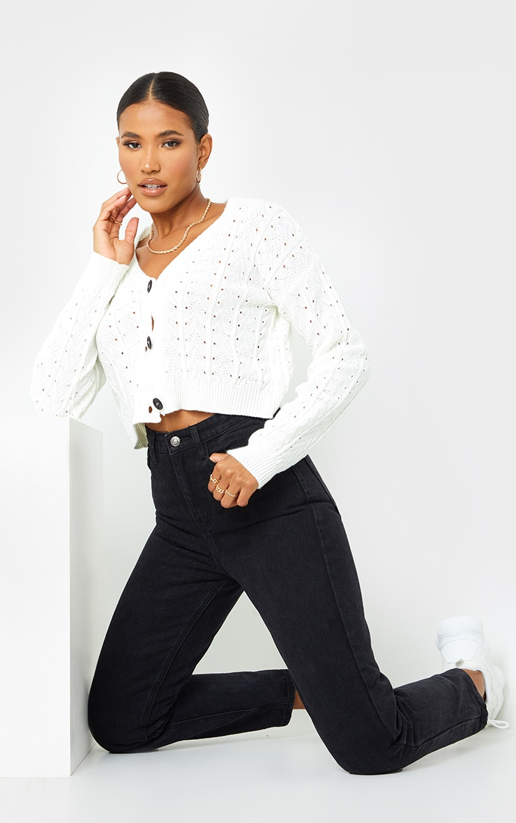 PRETTYLITTLETHING Black Mom Jean 1