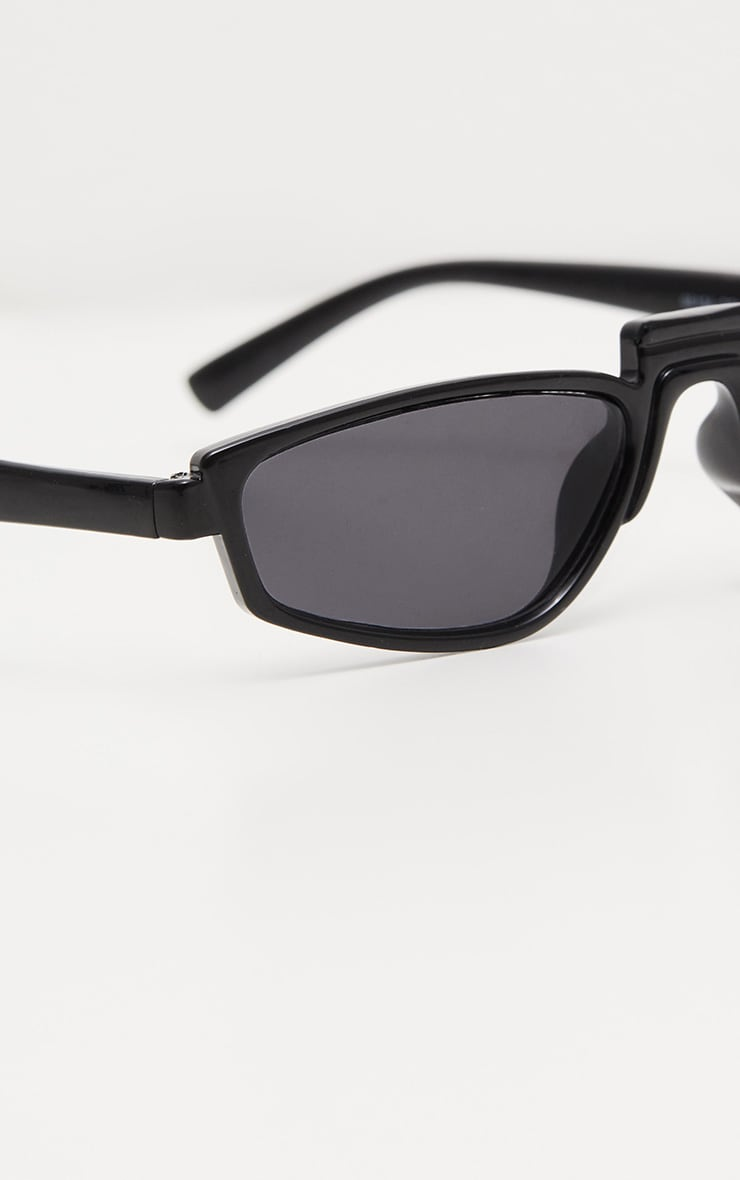 Black Thin Retro Sunglasses 5