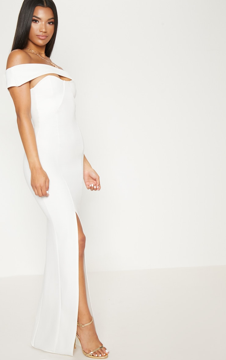 White Cross Strap Detail Maxi Dress 4