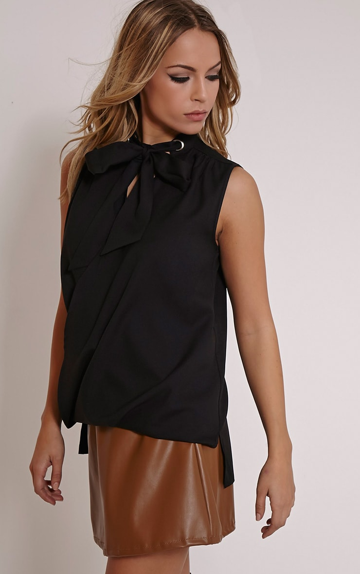 Dianne Black Pussy Bow Blouse 3