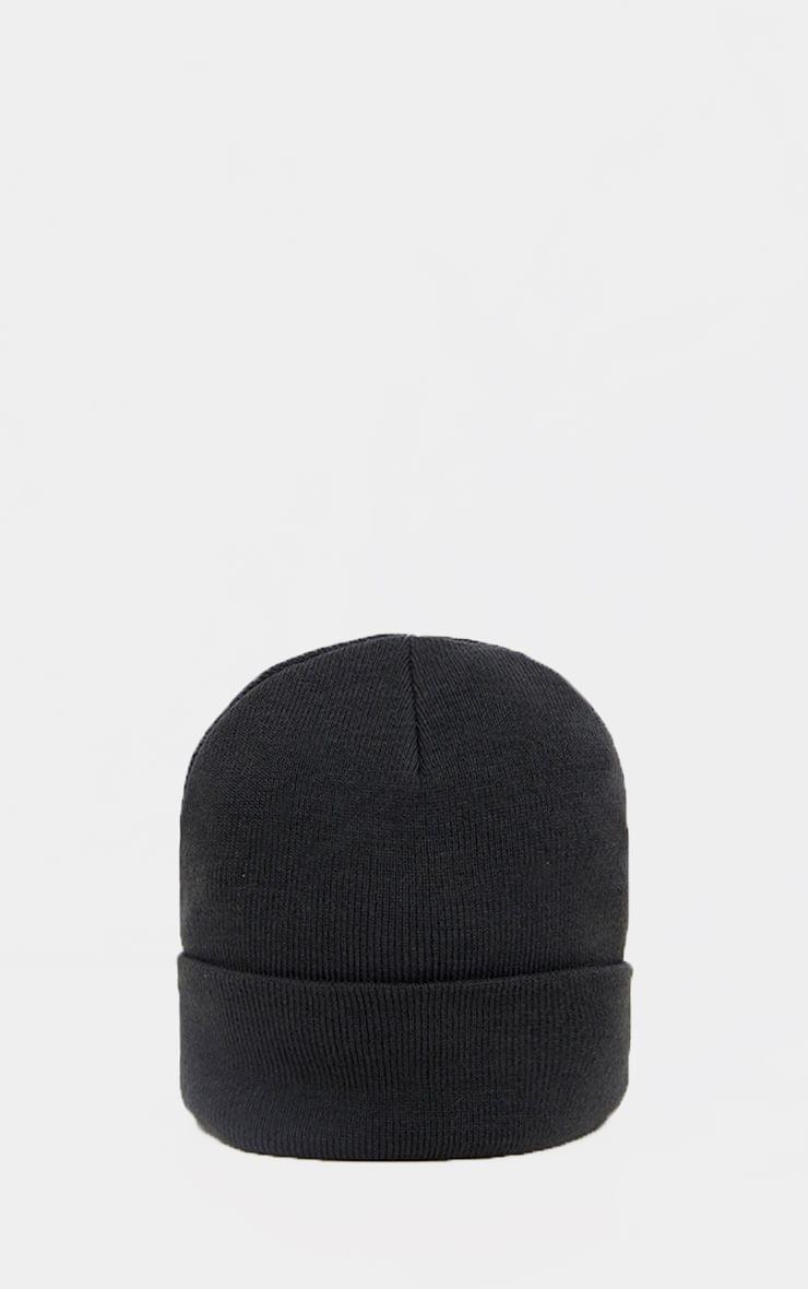 Black Beanie Hat 2