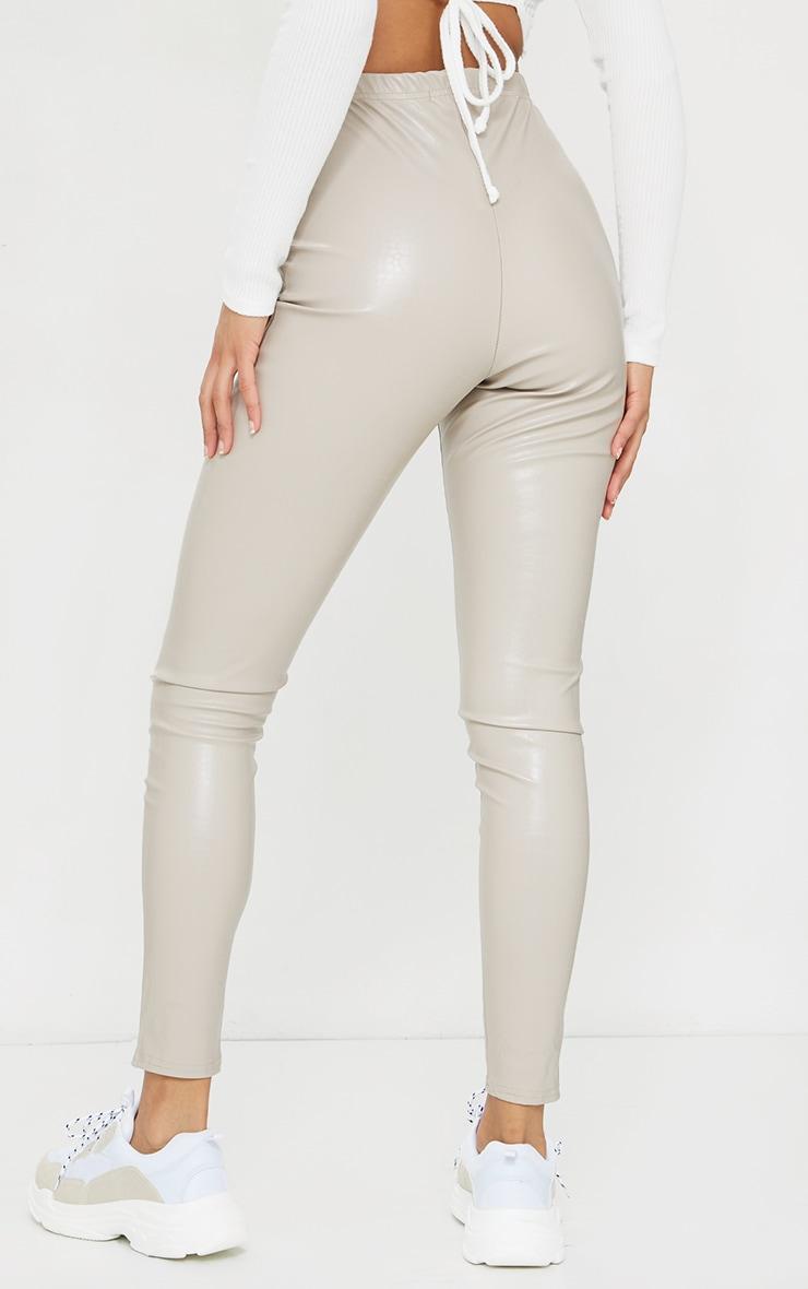 Stone Croc Faux Leather Skinny Pants 3