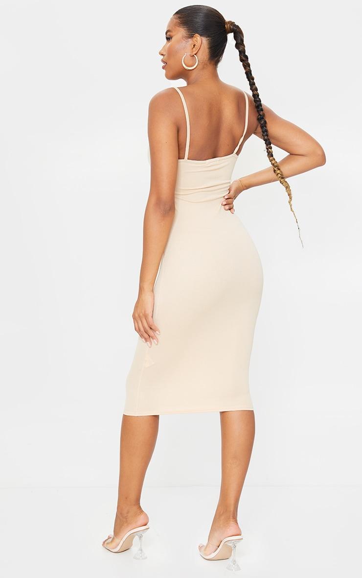Sand Strappy Midi Dress 2