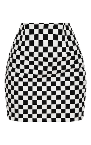 Fine Monochrome Faux Leather Checkerboard Mini Skirt Bralicious Painted Fabric Chair Ideas Braliciousco