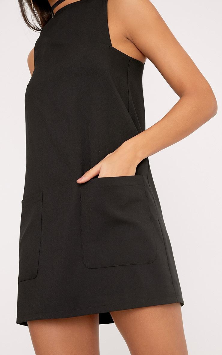Madline Black Pocket Detail Shift Dress 5