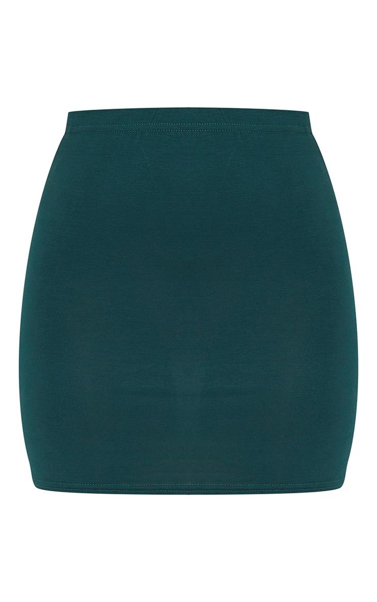 Forest Green Basic Jersey Mini Skirt 6