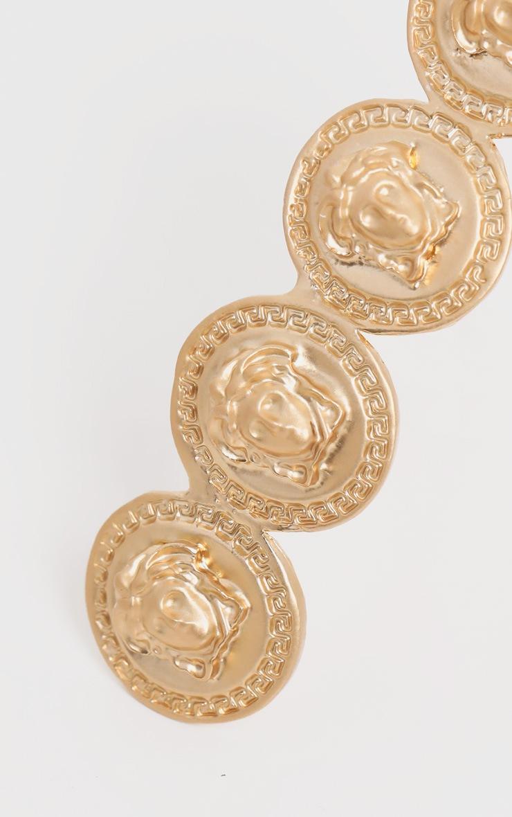 Greek Coin Hair Slide 3