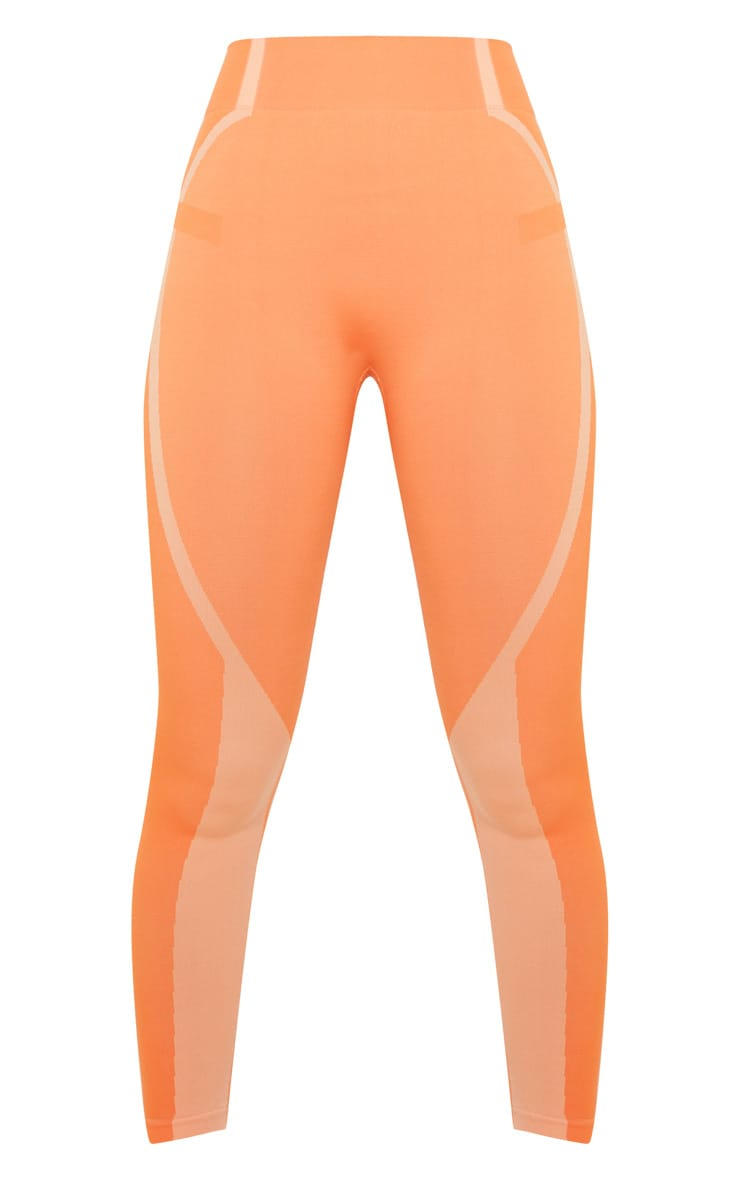 Orange Seamless Sports Legging 3