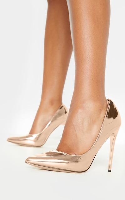 Rose Gold Metallic Court Shoe