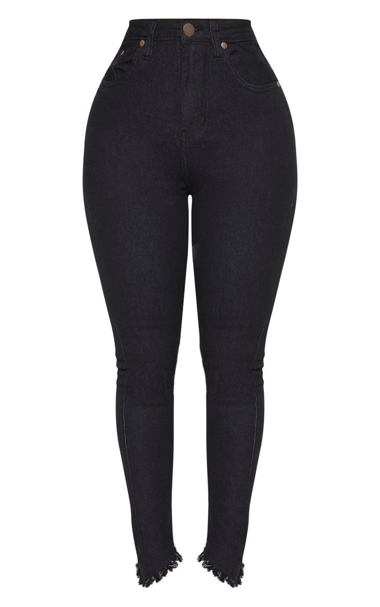 Shape Black High Waisted Skinny Jeans 3