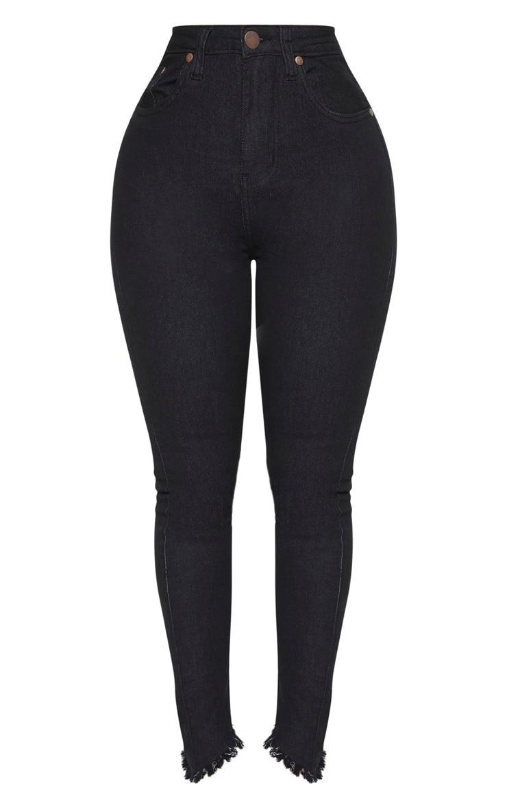 Shape Black High Waisted Skinny Jeans 4