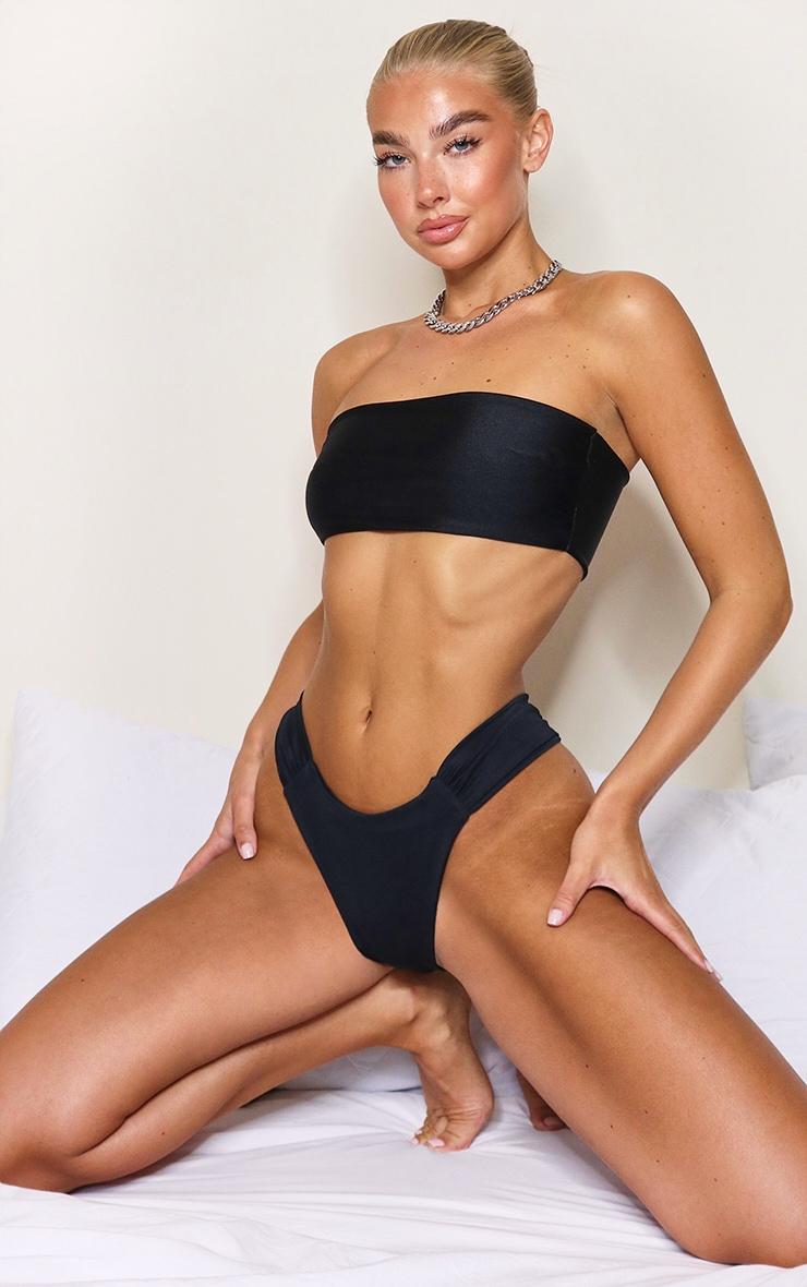Black Mix & Match Tab Bikini Bottom 1