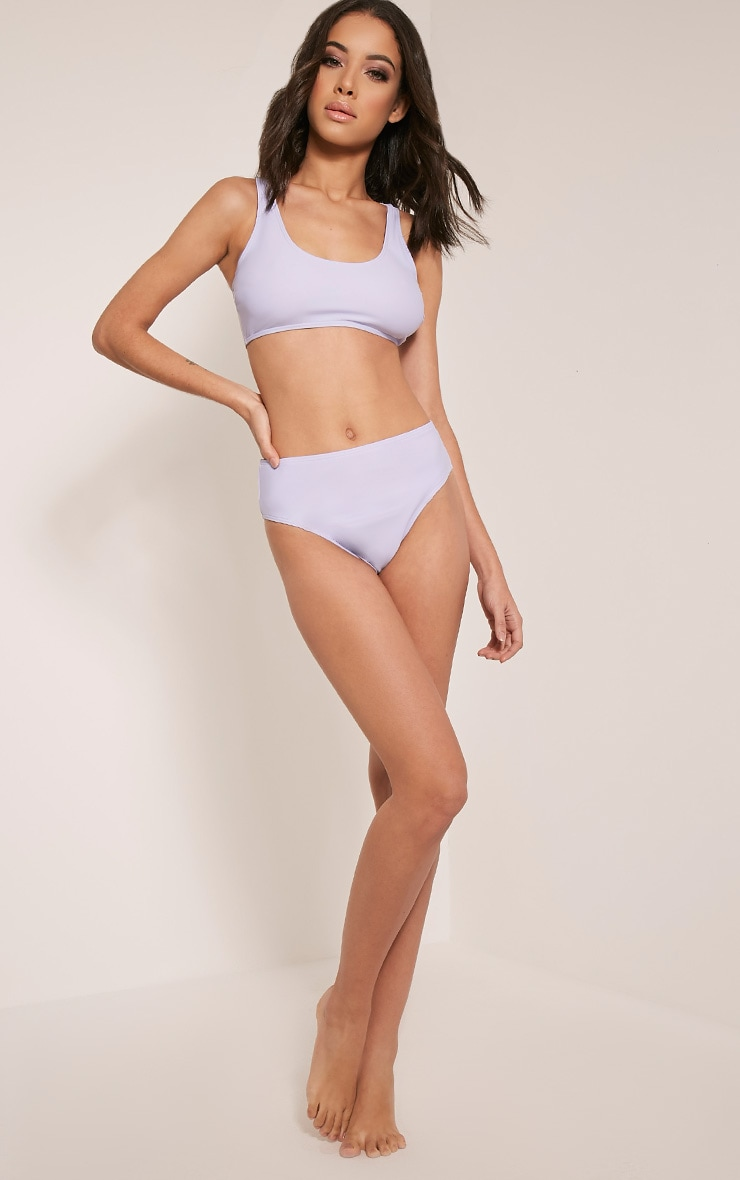 Lilianne Lilac Mix and Match Sports Style Bikini Top 5