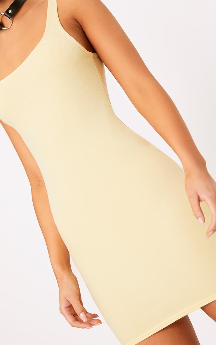 Carolin Lemon Scoop Neck Bodycon Dress 5
