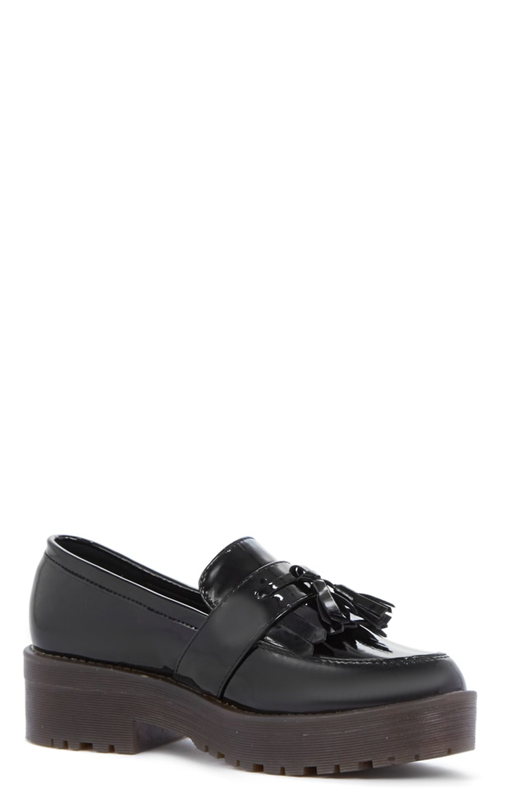 Charis Patent Black Chunky Loafer 3