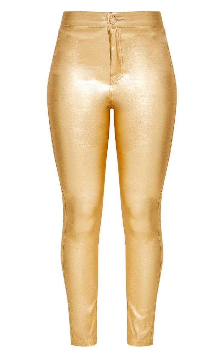 Gold Coated Disco Skinny Jean 3