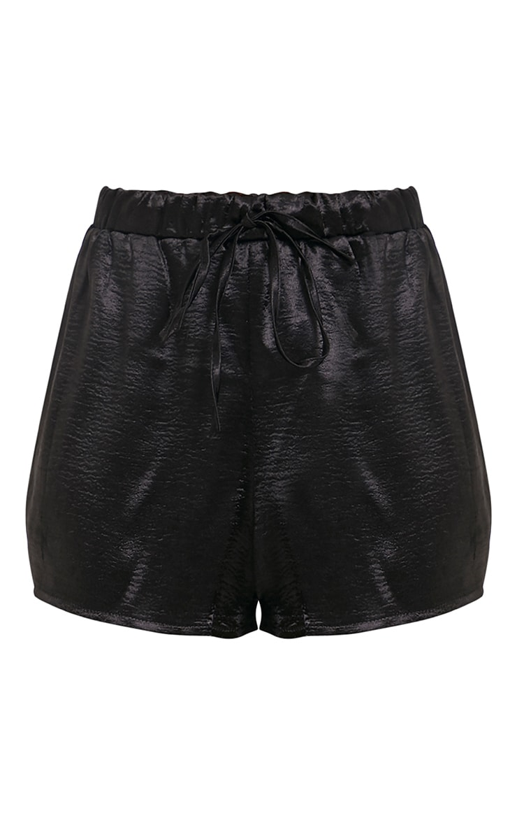 Mireyah Black Satin Shorts 3