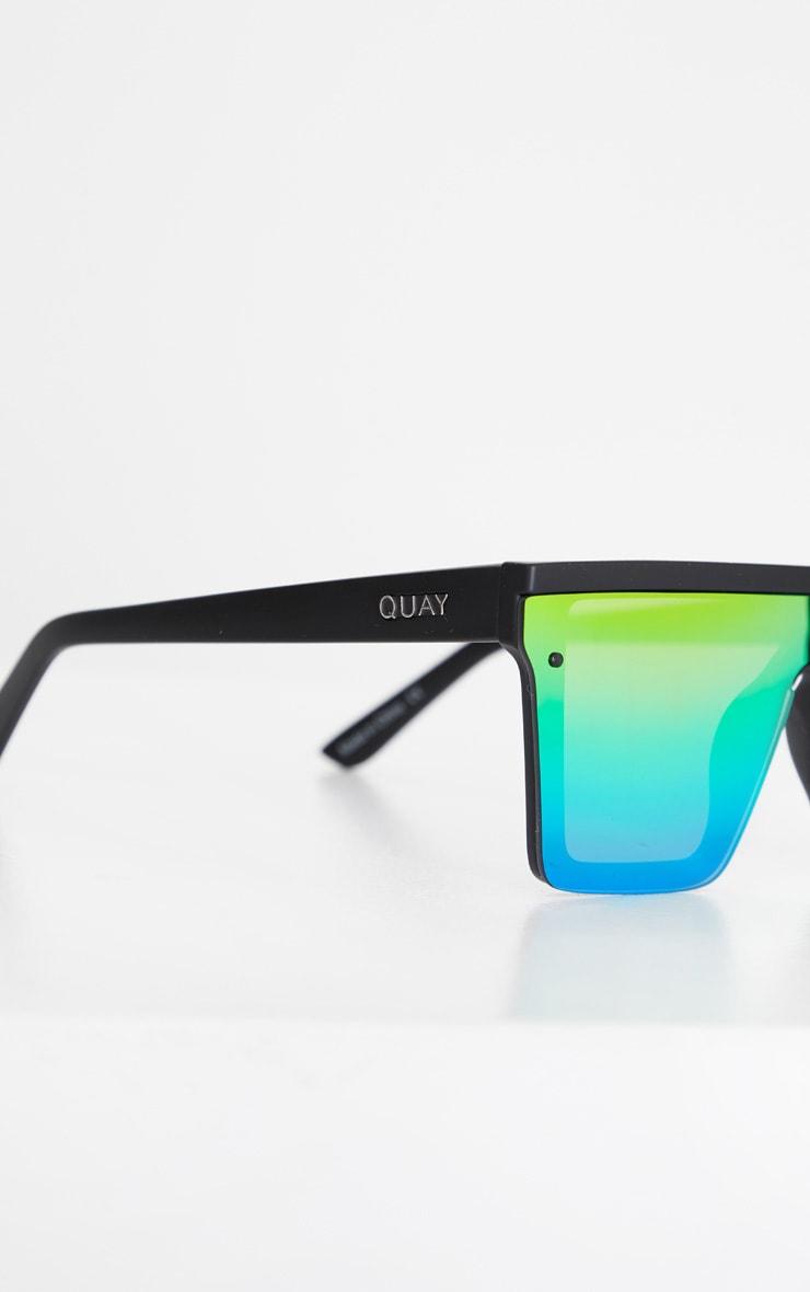 QUAY AUSTRALIA Black Flat Bar Multi Lense Hindsight Sunglasses 3