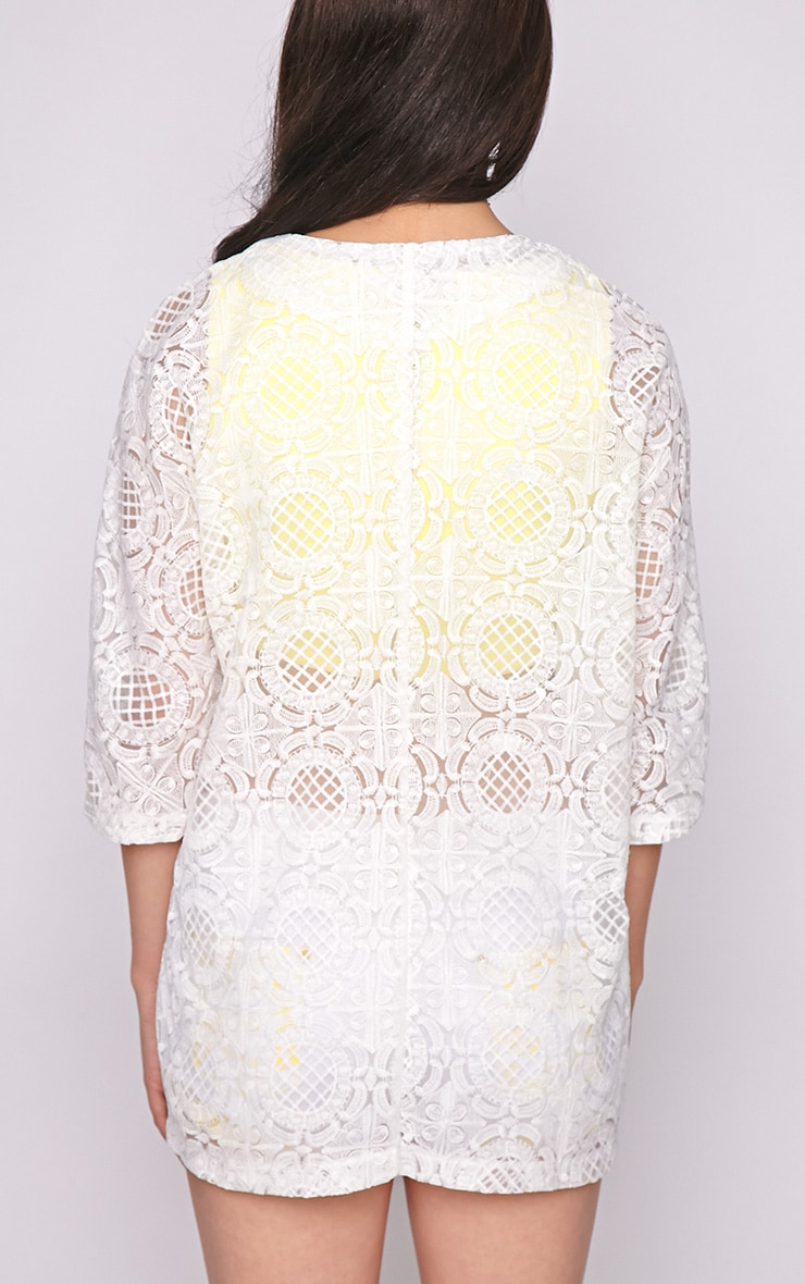 Lottie White Embroidered Jacket 2
