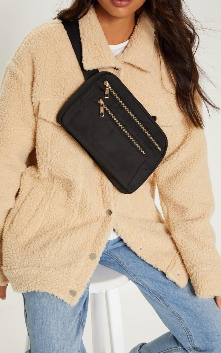 Black Nylon Bum Bag by Prettylittlething