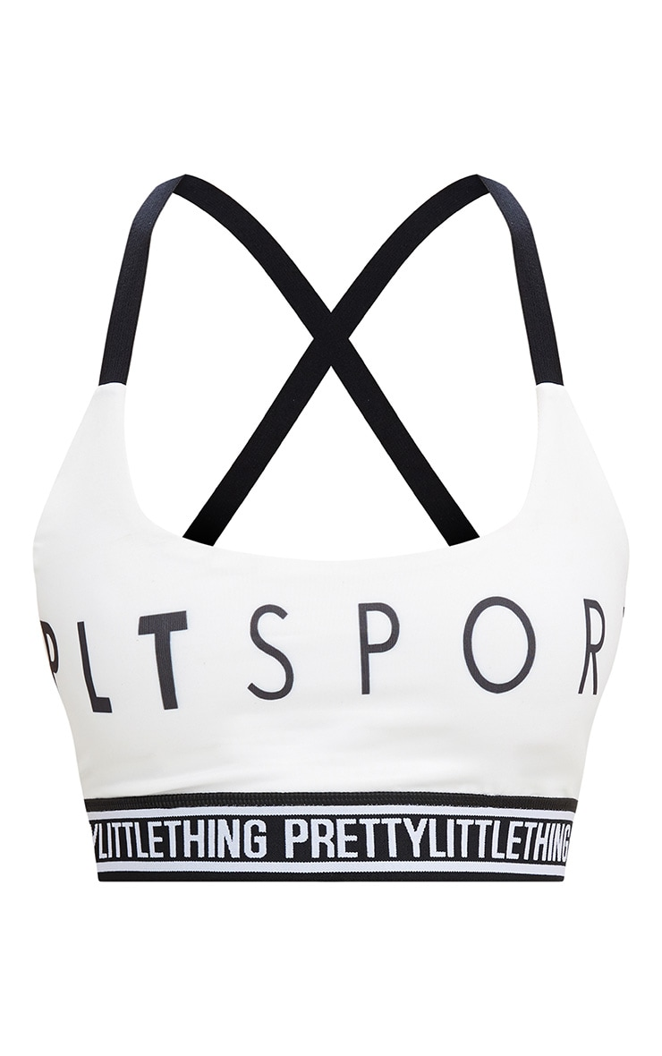 PRETTYLITTLETHING White Sport Crop Top 4