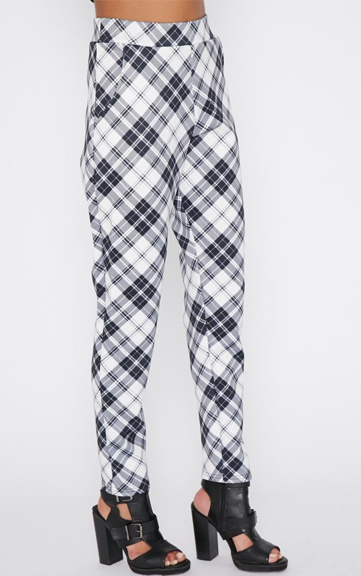 Riva Monochrome Tartan Trouser  3