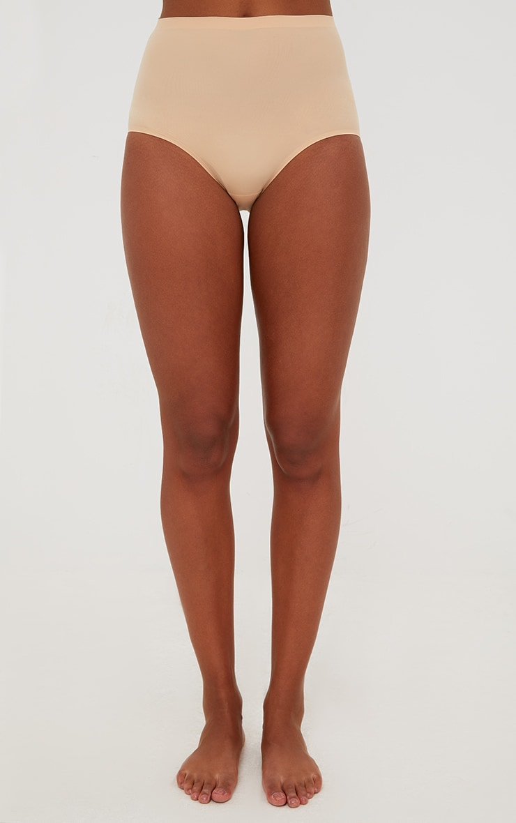 Nude NO VPL Invisible High Waisted Knickers 2