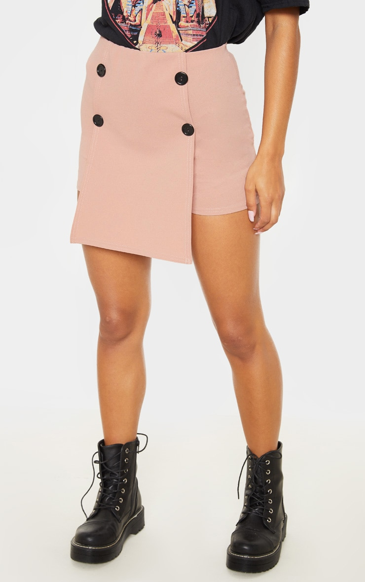 Blush Button Front Detail Skort  2