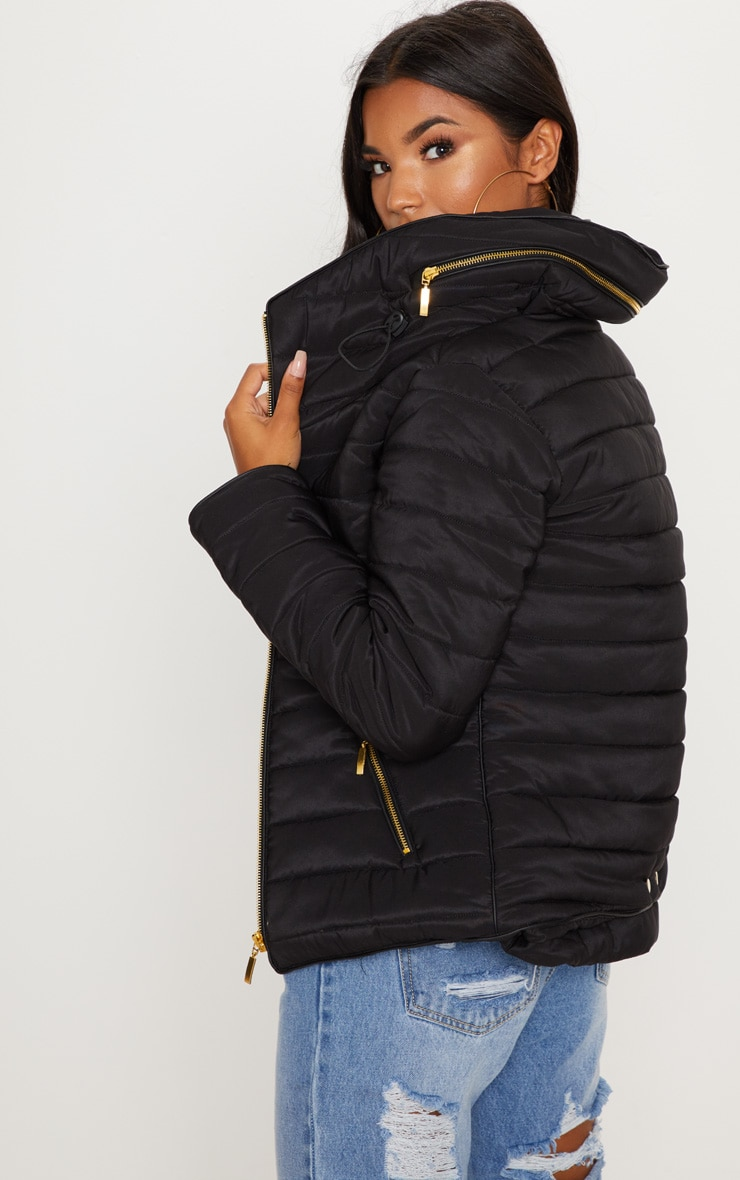 Mara Black Puffer Jacket 2